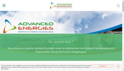 Site internet de Advanced Energies