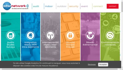 Site internet de Advanced Data Wireless Network