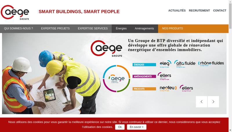 Capture d'écran du site de Nge Infranet