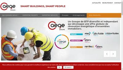 Site internet de Aege Concept