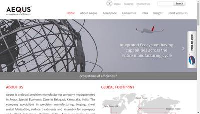 Site internet de Aequs Aerospace France SAS