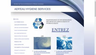 Site internet de Aer'Eau Hygiene Services