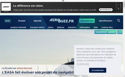 Site internet de Aerobuzz Fr