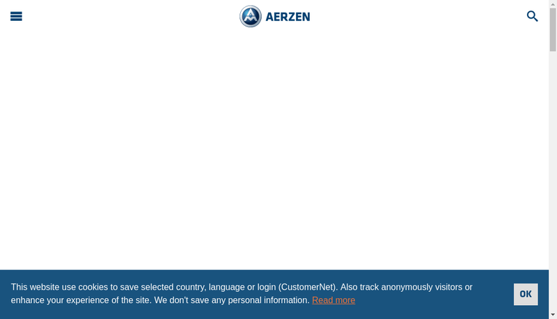 Capture d'écran du site de Aerzen France