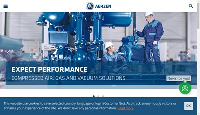 Site internet de Aerzen France