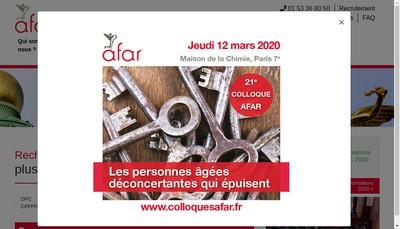 Site internet de AFAR