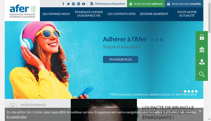 Capture d'écran du site de Gie Afer