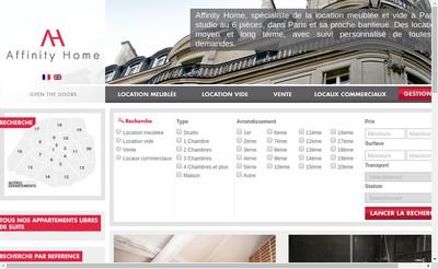 Site internet de Affinity Home