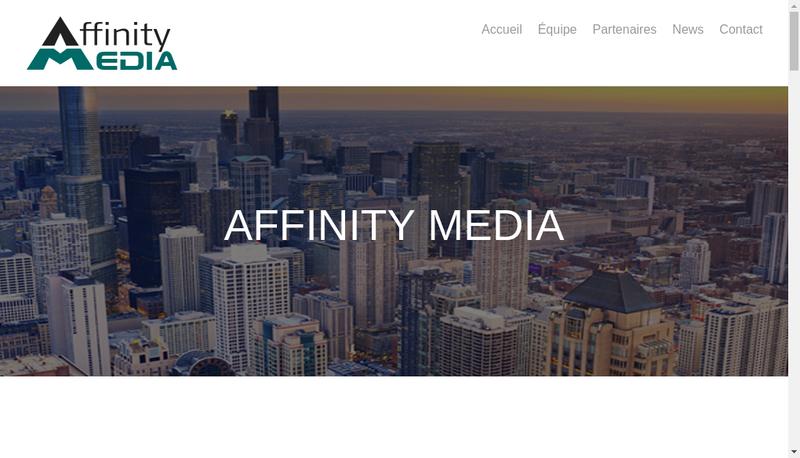 Capture d'écran du site de Affinity Media