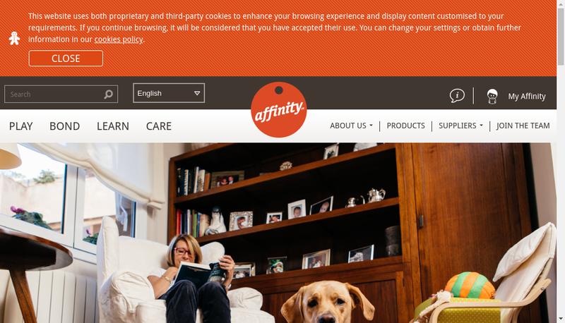 Capture d'écran du site de Affinity la Chapelle