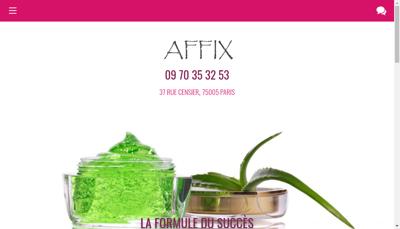 Capture d'écran du site de Affix