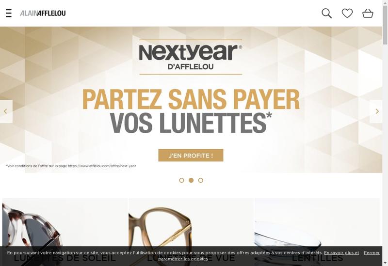Capture d'écran du site de Alain Afflelou Franchiseur SAS