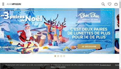 Site internet de Alain Afflelou Franchiseur SAS