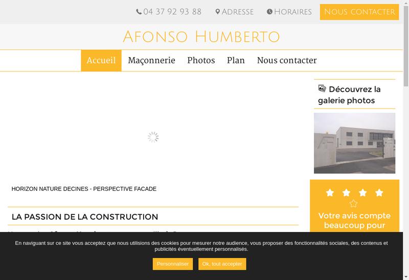 Capture d'écran du site de Afonso Humberto SARL