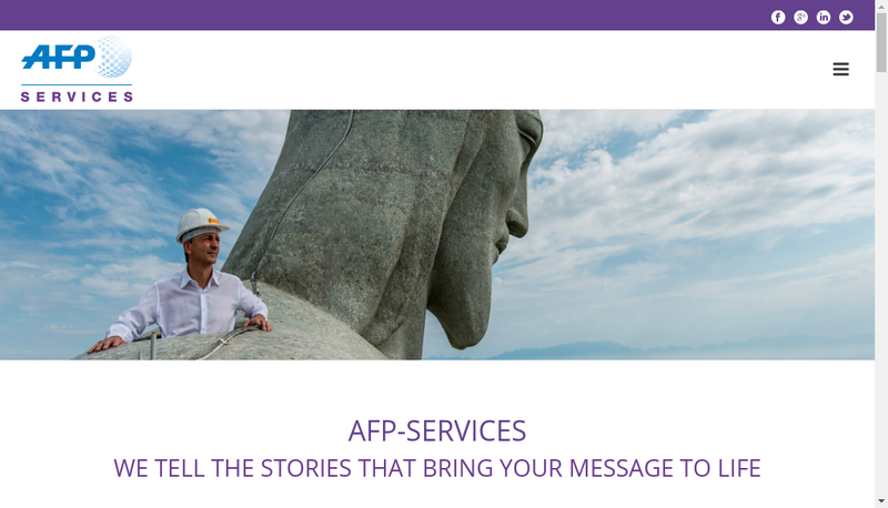 Capture d'écran du site de Afp Services