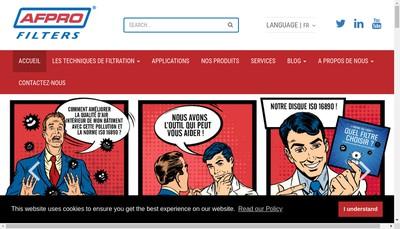 Site internet de Afpro Filters