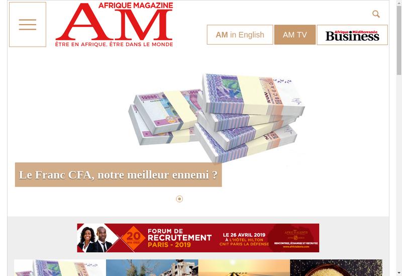 Capture d'écran du site de Afrique Mediteranee International
