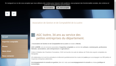 Capture d'écran du site de Ass Gestion Comptabilite Lozere