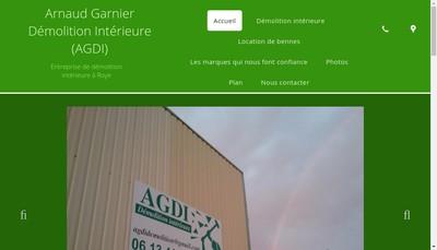 Site internet de Agdi Arnaud Garnier Demolition Interieure