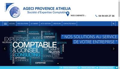 Site internet de Ageci Provence Athelia