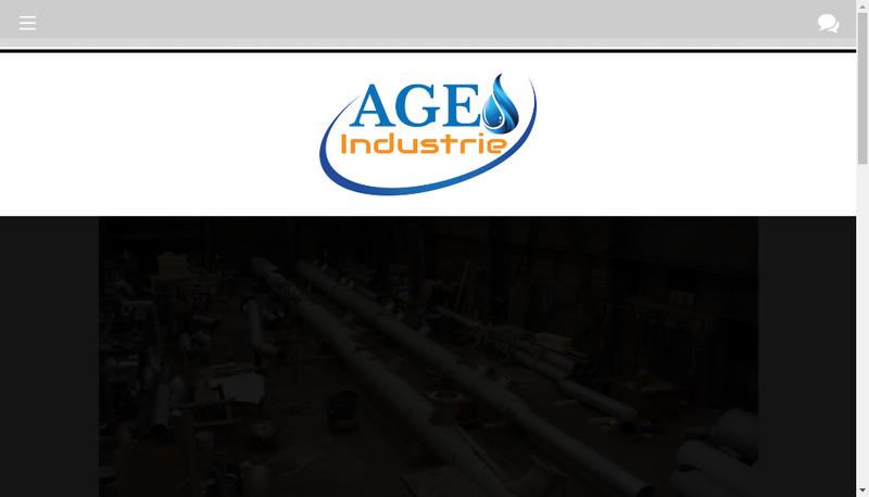 Capture d'écran du site de Age Industrie
