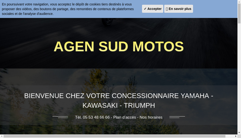 Capture d'écran du site de Yam Aquitaine