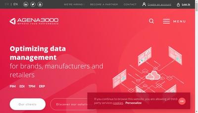 Site internet de Agena 3000 Data Management