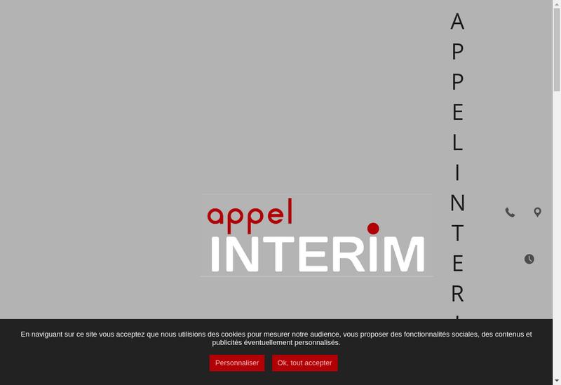 Capture d'écran du site de Appel Interim Toulouse