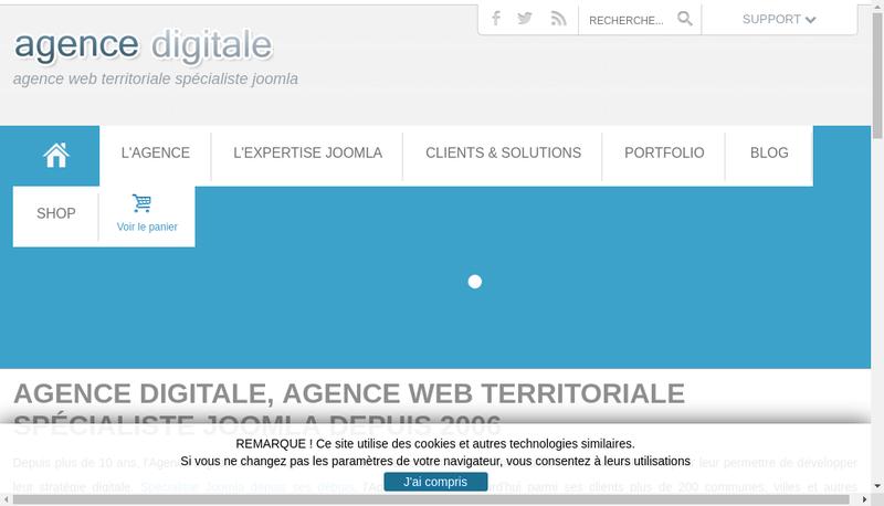 Capture d'écran du site de Agence Digitale