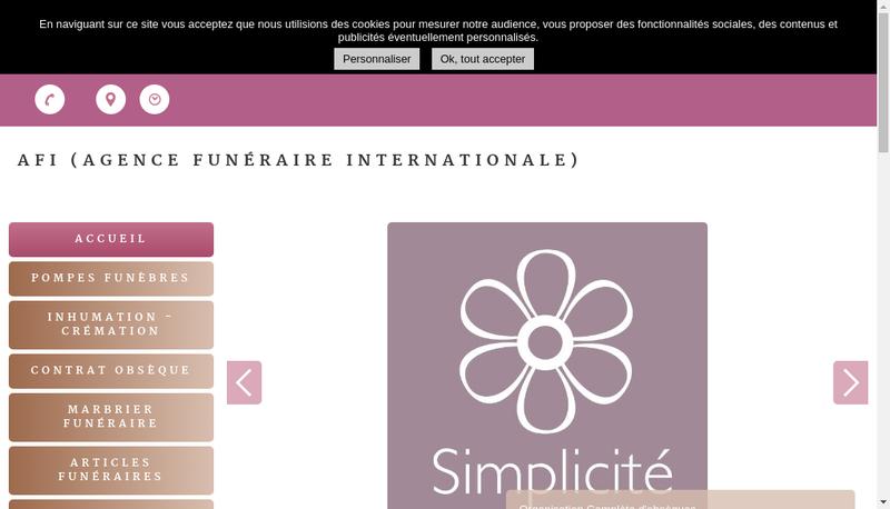 Capture d'écran du site de AFI