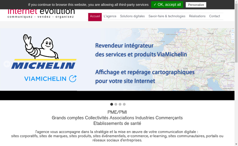 Capture d'écran du site de Internet Evolution