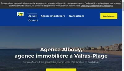 Site internet de Agence Albouy