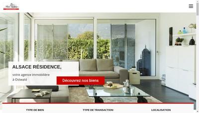 Site internet de Alsace Residence
