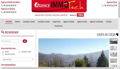 Site internet de Agence Immotech