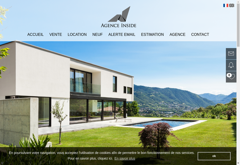 Capture d'écran du site de Agence Inside