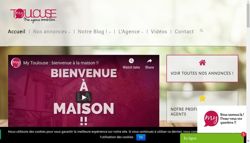 Capture d'écran du site de Agence My Toulouse