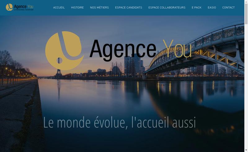Capture d'écran du site de Agence You Airport