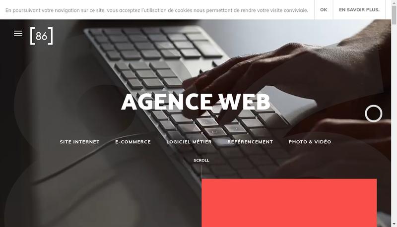Capture d'écran du site de Agence 86