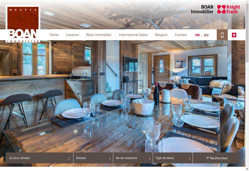 Capture d'écran du site de Boan et Cie