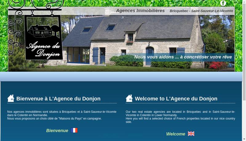 Capture d'écran du site de Agence du Donjon