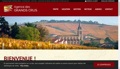 Site internet de Agence des Grands Crus
