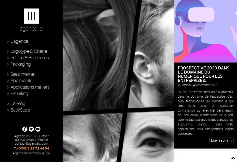 Capture d'écran du site de ICI