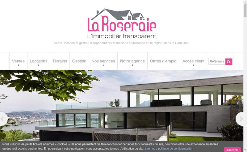 Capture d'écran du site de Agce Roseraie Chasse Immo Immo Formation