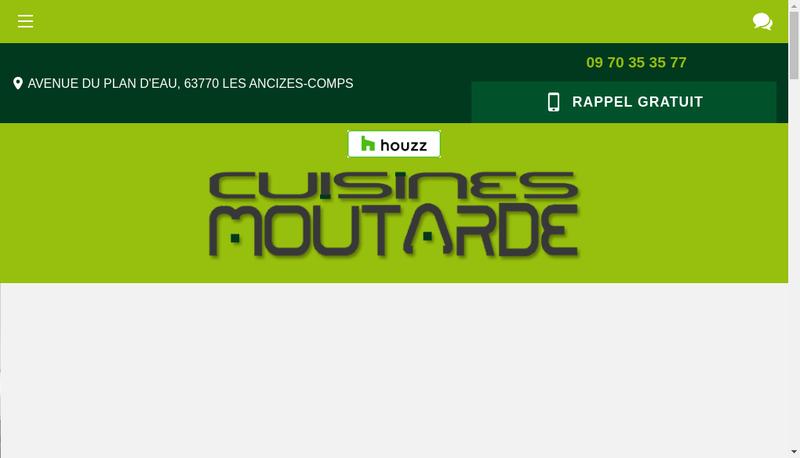 Capture d'écran du site de Meubles Cuisines Moutarde