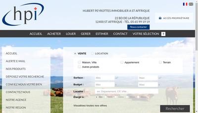 Site internet de Agence Immobiliere Saint Affricain