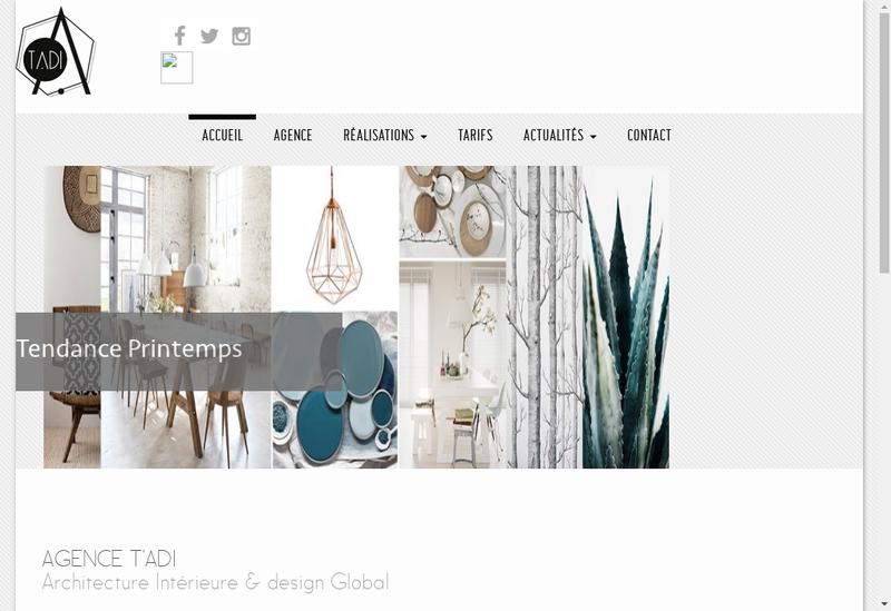 Capture d'écran du site de Agence Tadi