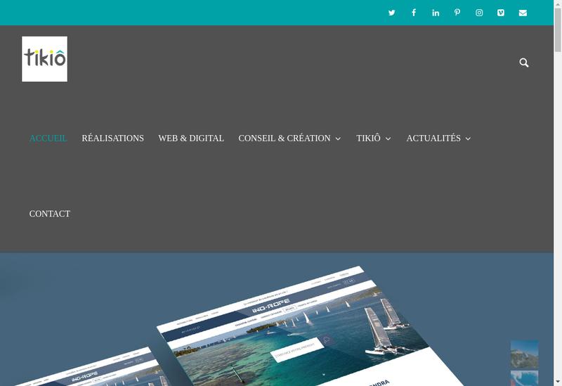 Capture d'écran du site de Tikiô