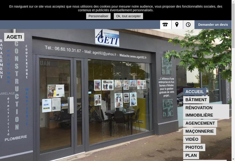 Capture d'écran du site de Ageti