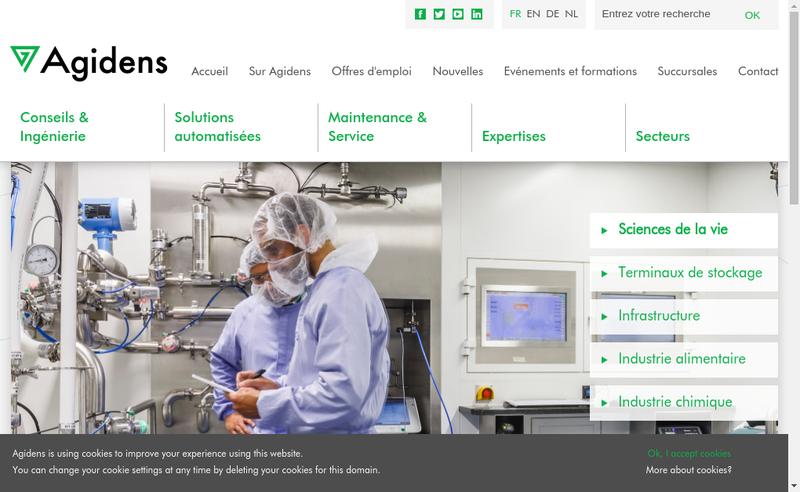 Capture d'écran du site de Agidens