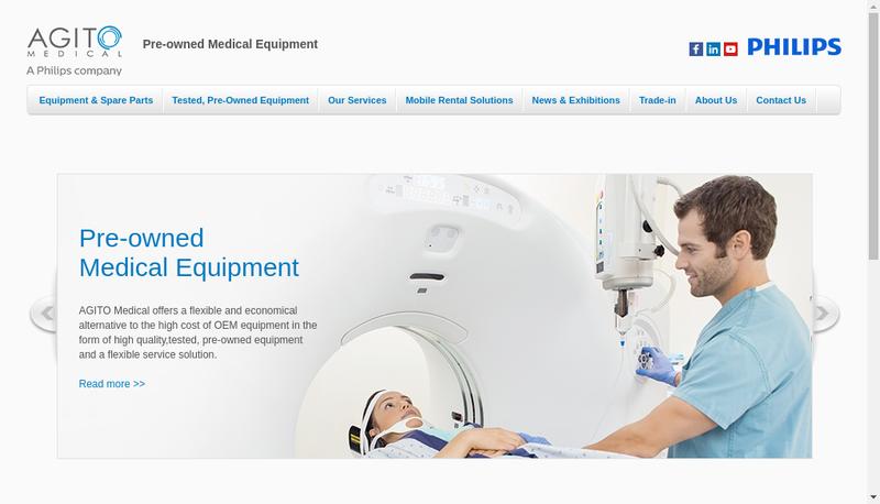 Capture d'écran du site de Agito Medical